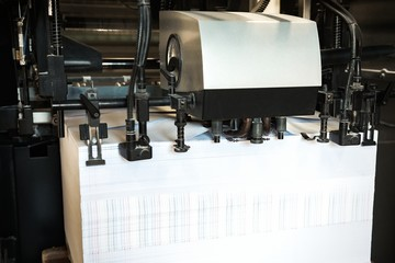 Offset machine. Printing newspaper high speed.