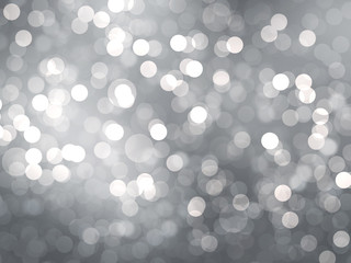 White silver bokeh style background,  illustration.