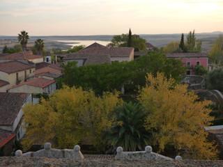 Castillo de Granadilla. Pueblo historico en Caceres ( Extremadura, España)