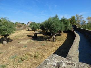 Granadilla, pueblo abandonado villa amurallada de Caceres en Extremadura, España