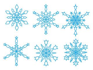 Snowflakes icon collection