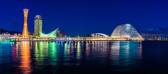 神戸港の風景,夜景