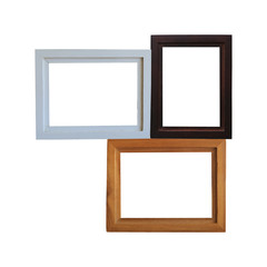 modern wooden frame isolated.