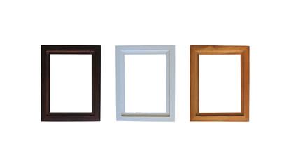 modern wooden frame isolated.