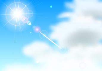 青空 雲 太陽