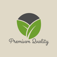 Organic food vector label