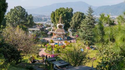 Stupa Garten in einen Kloster in Nepal
