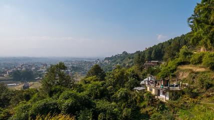Blick über das Kathmandu Tal in Nepal