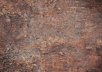 Old natural wooden brown shabby background. Old texture of bark  table or floor.