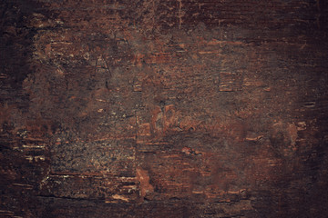 Vintage ancient wooden background. Old texture of bark wood,   table or floor.