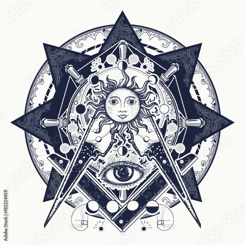 All seeing eye  Alchemy, medieval religion, occultism, spirituality