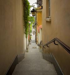 """Kamienne schodki"" in old town of Warsaw, Poland"
