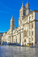 Sant'Agnese in Agone church on the Piazza Navona, Rome