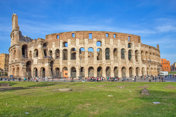 Famous Colosseum amphitheater in Rome, Italy