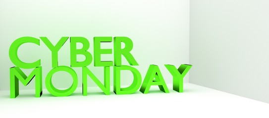 Cyber Monday 3D text