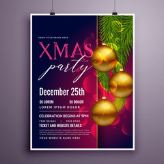 awesome christmas party flyer poster design template