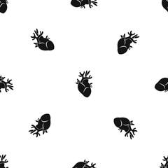 Heart pattern seamless black