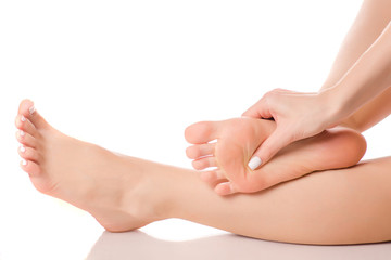 Female feet heel massage