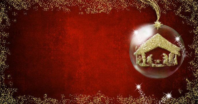 Nativity Scene Christmas backgrounds cards.
