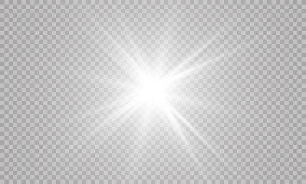 Glow light effect. Vector illustration. Christmas