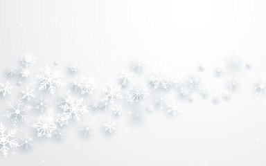 Merry Christmas and Happy new year. Abstract snowflakes background