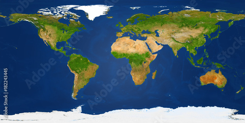 Fototapete Extra large big map with highest resolution detail avalable. XXL size physical world map illustration Clipping patch included. Primary source, elements of this image furnished by NASA