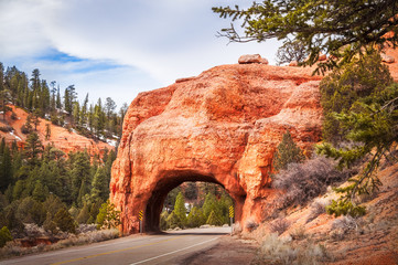 Red Canyon Road Tunnel, Dixie National Forest, Utah, USA