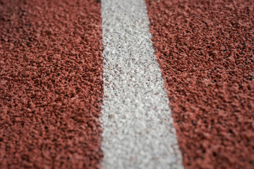 Running track close up.  shallow depth of field. Sport Background.