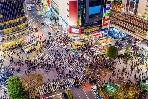 Fototapete Shibuya, Tokyo, Japan