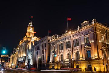 """中国・上海の外灘・""""ザ・バンド""""の夜景"""