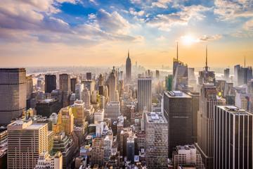 Fototapeta New York, New York, USA skyline.