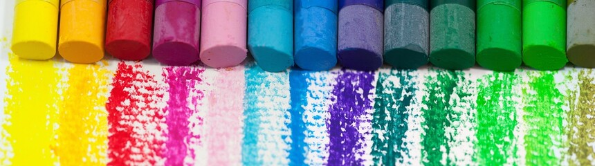 Colorful chalks background