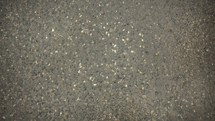 Close up wet road surface