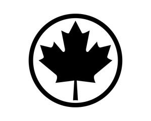 Circle Maple Leaf of Canada Symbol Logo Icon