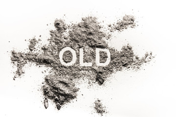 Old word as past, history, age or death metaphor