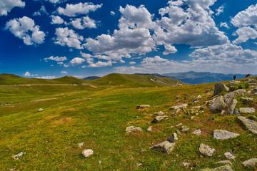 High-altitude abstract mountain landscape
