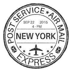 NEW YORK black round postmark for envelope