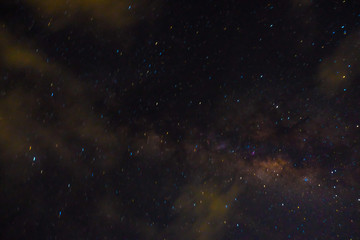 Milky way galaxy nebula night photograph