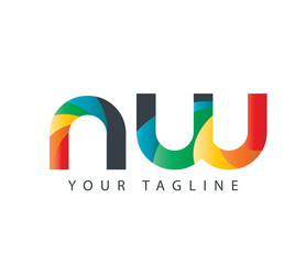 Initial Letter NW Design Logo