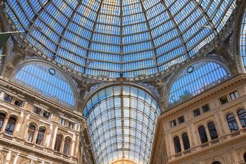 Galleria Umberto I, public shopping roofed street of XIXc. in Naples, Italy