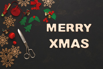 Merry xmas greeting, decoration background