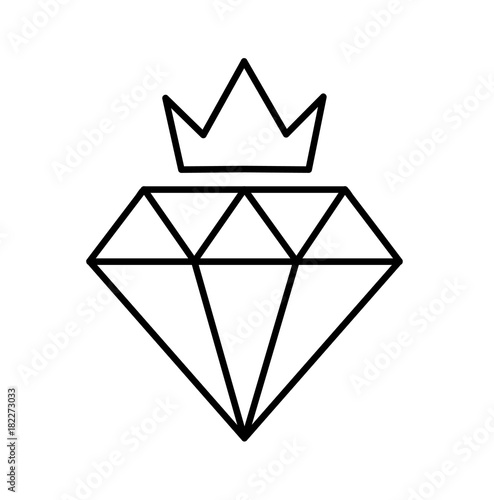 Line Art Diamond : Quot crown diamond class icon line art a premium quality