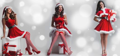 Set of Santa girls