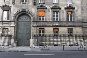 Decorative side of a classical Paris building