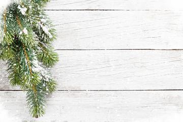 Christmas snow fir tree
