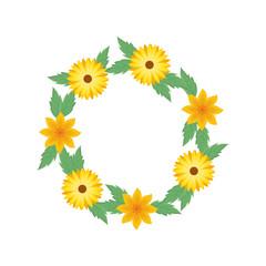 wreath of flowers icon