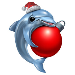 Cute Christmas Dolphin