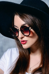 hipster girl in hat