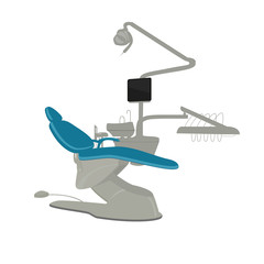 Vector dentist chair on a white background