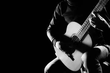 Photo sur Aluminium Musique Classical guitar player. Classic guitarist